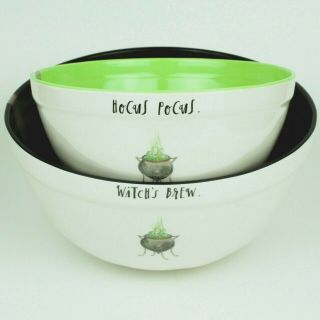 Rae Dunn - Halloween Candy/mixing Bowls - (set Of 2) - Hocus Pocus,  Witches Brew