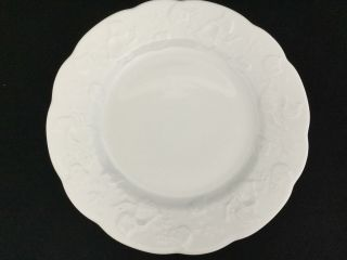 Set Of 6 Ivy Dansk Lierre Sauvage Lauvage Solid White 10 3/4 Dinner Plates