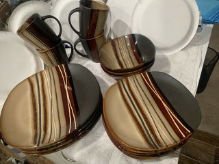 Better Homes And Gardens Bazaar Brown Dish Set