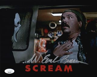 W.  Earl Brown Signed Scream Kenny Camera 8x10 Photo Autograph Jsa Cert