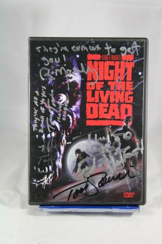 Night Of The Living Dead Dvd - Signed By Savini,  Tony Todd,  Mosely Jsa Certified