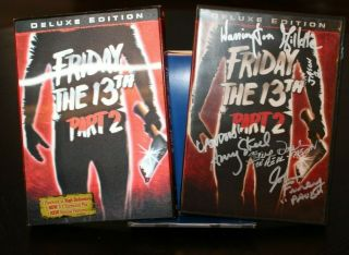 Friday The 13th Part 2 Dvd - Signed By Steve Dash,  Amy Steel And More Jsa Cert