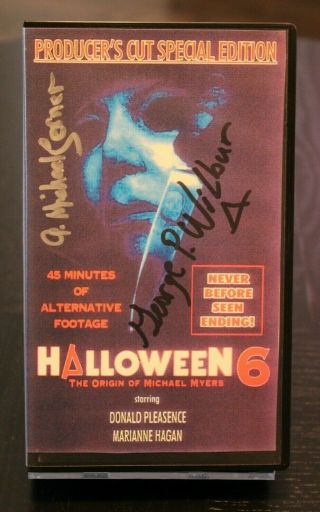 Halloween 6 - Origin Of Micheal Myers Producers Cut Vhs W/ Jsa Autographs Wilbur