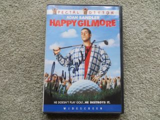 "Bob Barker Signed "" Happy Gilmore "" Dvd Cover & Dvd"