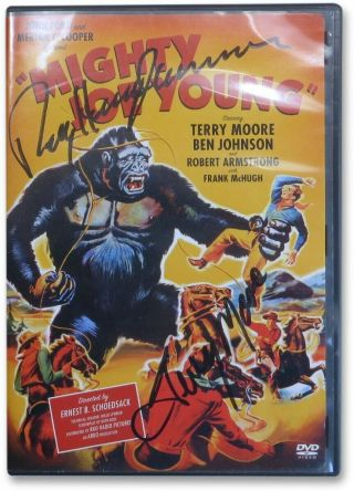 Terry Moore Ray Harryhausen Autographed Dvd Cover Mighty Joe Young Jsa Ff55606