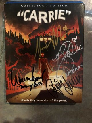 Carrie Collectors Edition Signed By Cast Dvd