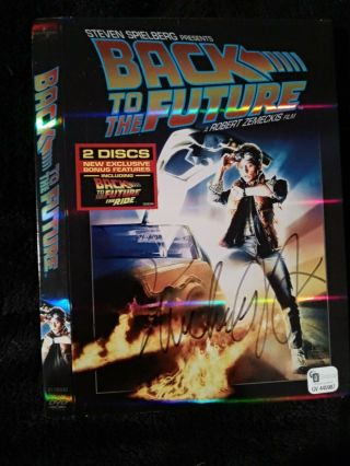 "Michael J.  Fox Signed/autographed Dvd Cover "" Back To The Future "" (bttf) Ga"