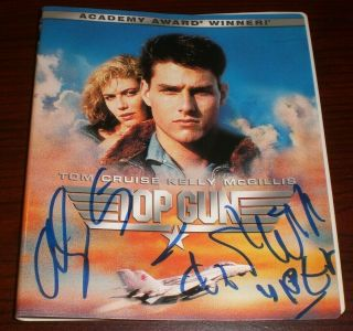 Tom Skerritt & Anthony Edwards Signed Top Gun Hd Dvd Cover Only Autograph