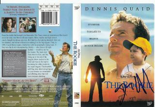 Dennis Quaid Signed (the Rookie) Movie Jim Morris Dvd Cover Proof W/coa