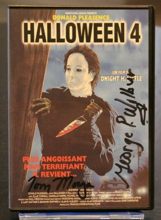 Halloween 4 French Dvd With (2) Cast Signatures George P Wilbur Jsa