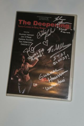 The Deepening Dvd - Gunnar Hansen Signed - Autographed - Texas Chainsaw