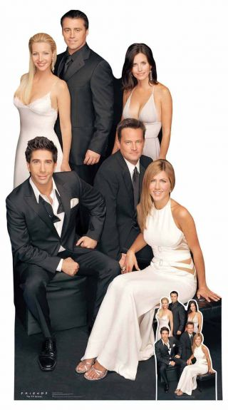 Friends Group Lifesize And Mini Cardboard Cutout With Rachel,  Ross & Gang