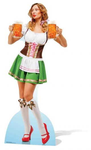 Oktoberfest Beer Festival Bavaria Babe Cardboard Cutout Standee Stand Up Standee