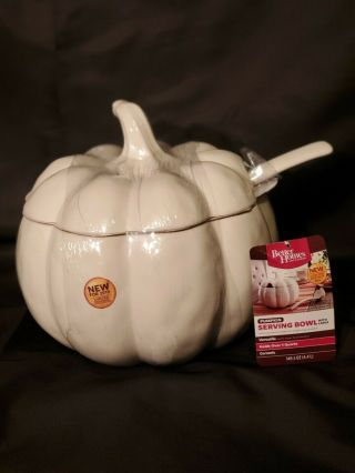 Better Homes And Gardens Serving Pumpkin Soup Tureen / Punch Bowl & Ladle