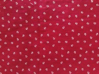 Back In Time Textiles Antique 1890 Claret Calico Fabric Grt 4 Dolls Quilting