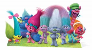 Dreamworks Trolls Panoramic Cardboard Cutout / Stand Up / Standee Decoration