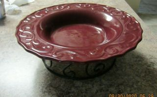 Home & Garden Celebrating Country Garden Vines Berry Serving Bowl & Stand