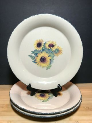 Home And Garden Party Sunflower Dinner Plates Set Of Three