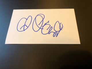 Dave Chappelle Signed Autographed Index Card - W/ Peace Sign Authentic