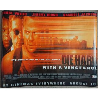 "Die Hard With A Vengeance Official Uk Quad Movie Poster 40 "" X 30 "" / 101 X 76 Cm"