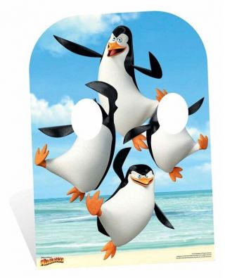 Penguins Of Madagascar Child Size Stand In Cardboard Cutout Great For Photos