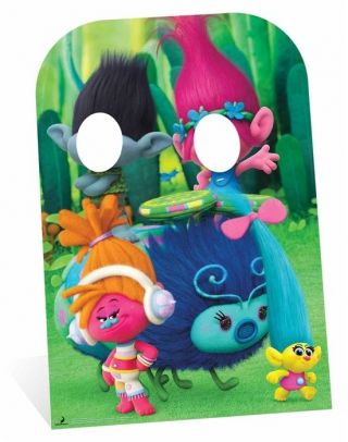 Trolls Poppy And Branch Child Size Cardboard Cutout Stand - In Dreamworks Photos