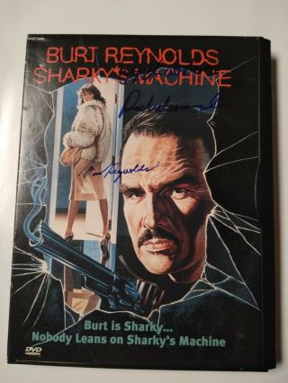 Burt Reynolds Signed Photo Dvd Cover Sharkys Machine Rachel Ward Signed Realdeal