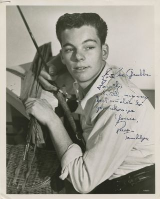 Vintage 1950s Russ Tamblyn Signed 8x10 Photo - Young Mgm Portrait Autograph