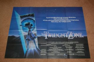 Twilight Zone: The Movie (1983) - Rare Orig.  Uk Quad Poster