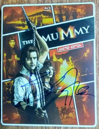Brendan Fraser Autographed The Mummy Blu Ray Steelbook