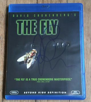 Jeff Goldblum Autographed The Fly Blu Ray