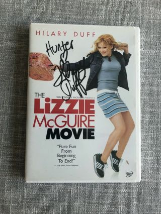 Hilary Duff Signed Lizzie Mcguire Dvd Movie Authentic Autograph