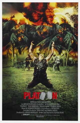 """ Platoon "".  Tom Berenger.  Willem Dafoe.  Classic Movie Poster Various Sizes"