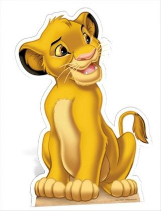 Simba The Lion King Official Disney Cardboard Fun Cutout/figure - For Your Party