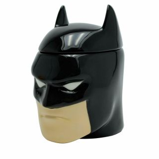 Official Dc Comics 3d Batman Coffee Mug Cup With Lid In Gift Box