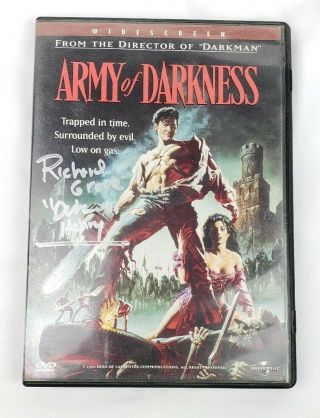 Autographed Signed Army Of Darkness Dvd Evil Dead Signed By Richard Grove