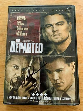 "Jack Nicholson Autographed "" The Departed "" Full Screen Edit Dvd Signed In Person"