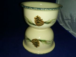 2 - Home & Garden Party Northwoods (pinecone) Soup/cereal Bowls Cond.
