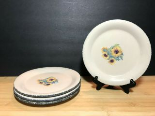 Home And Garden Party Sunflower Salad Plates Set Of Four