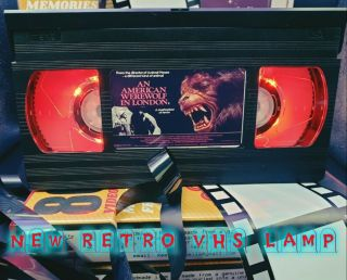 Retro Vhs Lamp,  An American Werewolf In London Horror,  Top Quality Gift