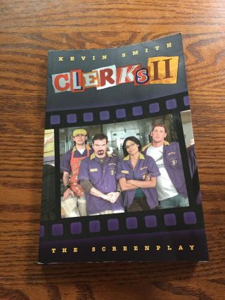 Clerks 2 Screenplay Book Signed By Kevin Smith