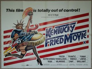 Kentucky Fried Movie 1981 Uk Quad Cinema Poster John Landis & Makers Of Airplane