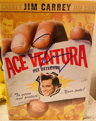 Jim Carrey Signed Pet Detective Dvd Movie Autographed Ace Ventura The Mask