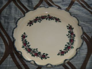 Home And Garden Party Fluted Stoneware Chip Dish Serving Tray Bowl