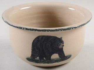 Home & Garden Party Northwoods Bear Soup Cereal Bowl 10522841