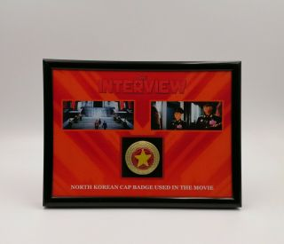 The Interview Movie Prop Koreon Cap Badge Display Rogen Franco