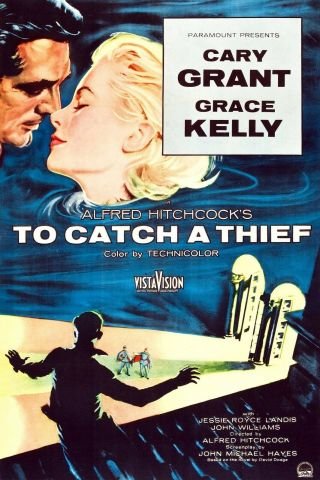 """"""" To Catch A Thief """".  Alfred Hithcock.  Classic Movie Poster 1 Various Sizes"""