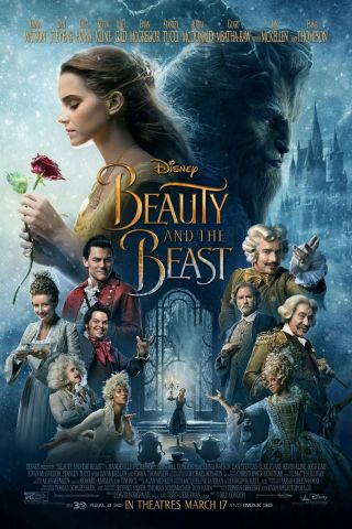 """"""" Beauty And The Beast """".  Classic 2017 Family Movie Poster Various Sizes"""