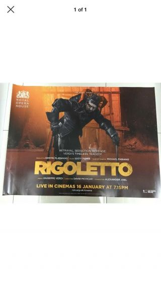 Royal Opera House Rigoletto Uk Quad Movie Poster