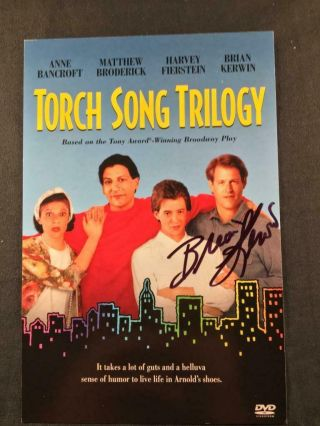 Brian Kerwin Signed Torch Song Trilogy Autographed Movie Insert Photo A56
